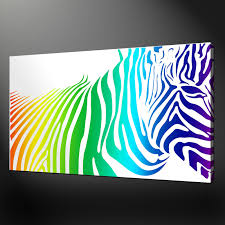 wall art ideas design variery prints zebra canvas wall art painting wonderful rainbow color stunning shocking ideas interior design rectangular white