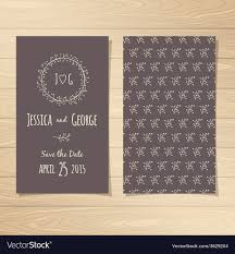 Save The Date Cards Royalty Free Vector Image Vectorstock