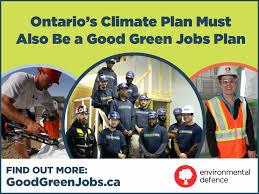 building an ontario green jobs strategy environmental defence for facebook