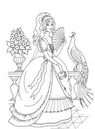 Small Picture Printable fancy princess coloring page Coloringpagebookcom