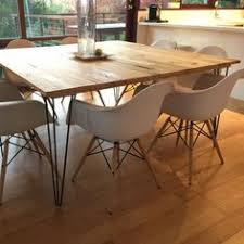 Hairpin dining table Diy Hairpin See What Diy Tables Our Customers Are Creating Every Weekend With These Hairpin Legs counterheighttablerectangle Pinterest Large Hairpin Dining Table pinned Over 100000 Times Pinterest