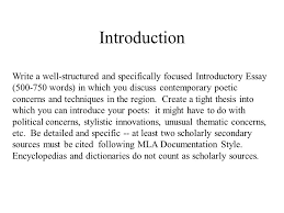 fire and ice contemporary ic poetry table of contents  introduction write a well structured and specifically focused introductory essay 500 750 words
