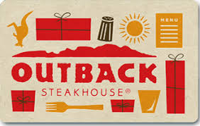 20 outback steakhouse gift card