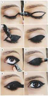 diy 60s punk eyeliner gothic makeup tutorial gothic eye makeup cat eye makeup
