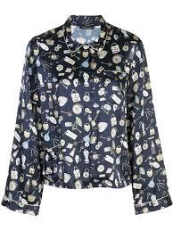 Morgan Lane Ruthie Key Print Pyjama Top   Farfetch.com