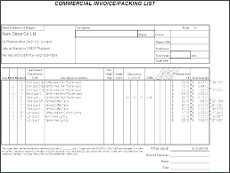 Packing Slip Template Shipping Packing List Sample Shipping