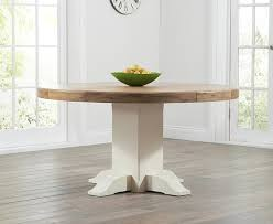 mark harris turin round dining table oak and cream