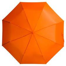 Складной <b>зонт Unit Basic</b>, оранжевый под нанесение логотипа ...