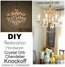 Diy Chandelier Remodelaholic Diy Crystal Orb Chandelier Knockoff
