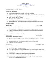 File Clerk Resume Therpgmovie