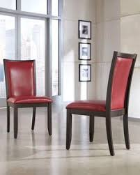 trise red dining uph 2 side chairs
