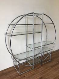 vintage free standing chrome shelving unit 2