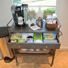 coffee station furniture.  station coffee cart organizing via tellittoyourneighbor for coffee station furniture t