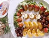 caramelized fruit platter