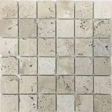 30 5x30 5 4 8 travertine tumbled white mosaic