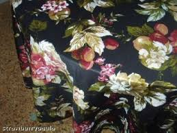 70 round fabric tablecloth nice