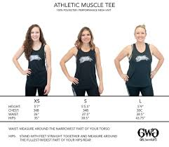 Size Chart Athletic Muscle Tee Girls With Guns