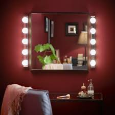 Add Lights To A Mirror This Ikea Light Bulb Mirror Hack Will Leave You Feeling Like