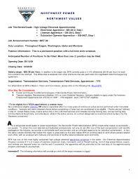 Powerline Technician Apprentice Sample Resume Powerline Technician Apprentice Resume Examples Lineman Electrician 1