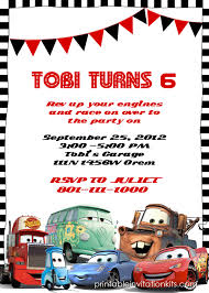 invitation t disney cars birthday invitation free template time to plan a