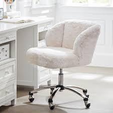 fabulous desk chairs for girls polar bear faux fur wingback chair pbteen