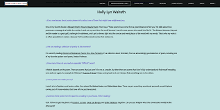 Interview At South Florida Poetry Journal Holly Lyn Walrath