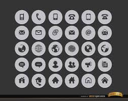 Resume Icons Wonderful 2119 24 Internet Contact Circle Icons Vector Download