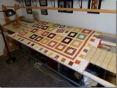 Ulmer Amish made quilt frame...small portable, better than PVC one ... & Hand Quilting Frame idea to duplicate... Cool little tray that moves along  the Adamdwight.com