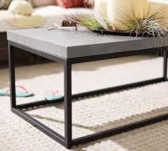 sloan concrete iron coffee table