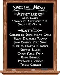 specials menu special menu trenton house restaurant trenton il