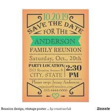 Family Reunion Poster Design Reunion Design Vintage Poster Style Invitation Zazzle