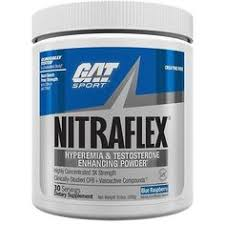 gat nitraflex pre workout 30 servings blue raspberry 29 99