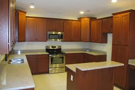 Granite With Cream Cabinets Killim Area Rug Cherrywood Cabinets Natural Cherry Kitchen