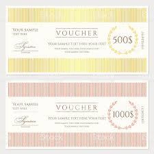 voucher gift certificate coupon template stock vector art 1 credit