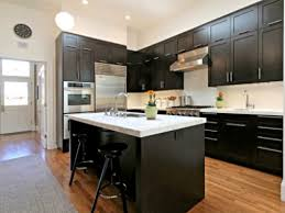 Brilliant Dark Kitchen Cabinets Colors Image Of Color With To Decorating