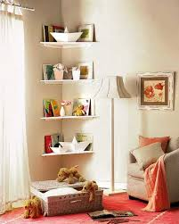 corner wall shelf for bedroom. every kids room has corners that are awkward places to decorate. corner shelves create a pretty storage spaces for toys and books space saving wall shelf bedroom t
