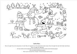 Kleurplaat Met Opdrachten Kersfees Printables Winter
