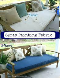 my outdoor cushions were looking a bit yuck so i used fabric spray p paint for outdoor cushions fabric paint