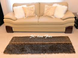 luxury black tip wolves fur middle seam thick and plushfurever designer rug runner area rug rectangle