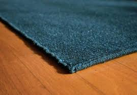 solid teal blue cotton rug rag runners
