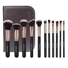 sixplus 11 pcs makeup brushes set tools cosmetic brush holder bag face foundation make up sleeve kit at banggood sold out