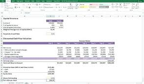 Discounted Cash Flow Excel Completed Valuation Model Aakaksatop Club