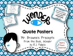Quotes from wonder WONDER Quote Posters of Mr Browne's Precepts book by RJ Palacio 24