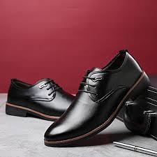 2018 men s classic lace up leather formal shoes men genuine leather casual shoes