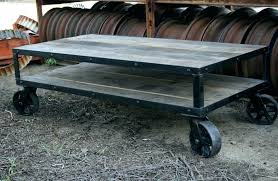 round coffee table with casters small coffee table on wheels coffee tables industrial rustic coffee table