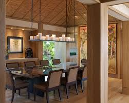 Dinning Rooms:Contemporary Asian Dining Room With Live Edge Dining Table  And Small Dining Chairs