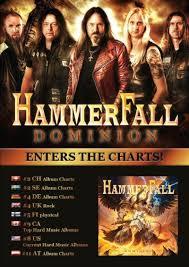 Hammerfalls New Album Dominion Hits The Charts Worldwide