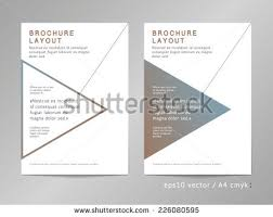 Annual Report Brochure Leaflet Cover Page Stock Vector 226080595 ...