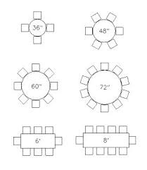 round table sizes excellent the best ideas on for tablecloth modern wedding 8 person size dining