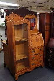 photo 5 of 6 early 20th c antique oak larkin secretary desk bookcase mirrored arts craft good